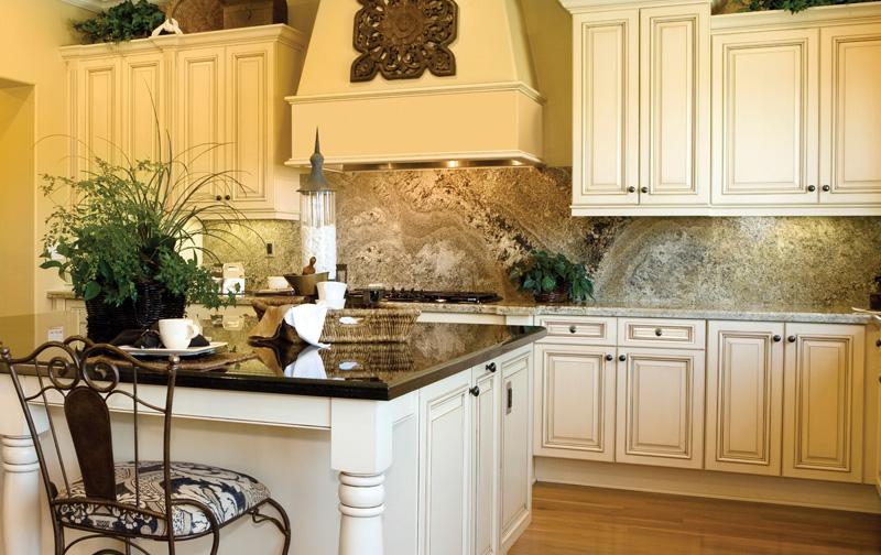 Haven Biscuit glaze all wood kitchen cabinetsExtreme Kitchen Bath