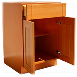 Frameless Base Cabinet Construction