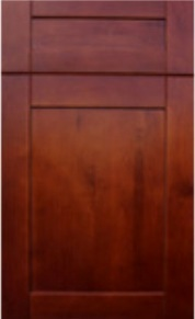 Solid Wood Toscana Shaker Door Style, frameless, full overlay,dovetail drawer, wood alder, finish walnut, full extension soft close drawer glides.