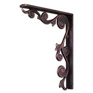 Metal bar bracket, wrought iron corbel