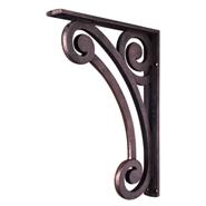 Metal bar bracket, wrought iron corbel