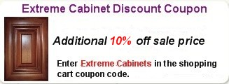 Additional 10% off Extreme Cabinets, Enter Extreme Cabinets in the coupon code of the shopping cart.