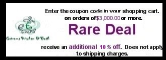 10 percent off  orders of $3,000.00 or more