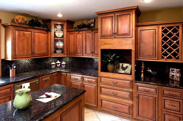 Extreme Glazed Rope kitchen  standard overlay  all wood construction   dovetail drawers full Cinnamon Maple RTA Kitchen Cabinets. RTA Bathroom Vanity Cabinets Rope Cinnamon Base