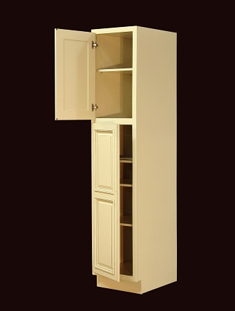 rta kitchen pantry cabinet 18 inch wide italian hickory rta pantry cabinet wp1884  rh   extremekitchen net