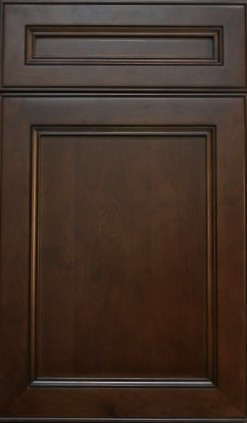 York Chocolate Coffee Shaker Cabinet, Extreme RTA, full overlay, dovetail drawers, full extension soft close drawer glides.
