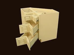 Corner Drawer Base With Dovetail Drawers RTA Kitchen Cabinet