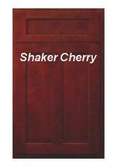 Shaker Cherry RTA cabinets