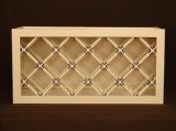 RTA lattice wine rack kitchen wall cabinet