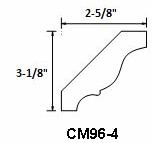 Kava Cherry Crown Molding CM96-4 1