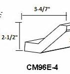 Pepper Shaker Angle Crown Molding CM96E-4 1