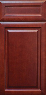 Kava Cherry RTA Kitchen Cabinet, full overlay, Wood: Birch, Finish: Cherry, dovetail drawers