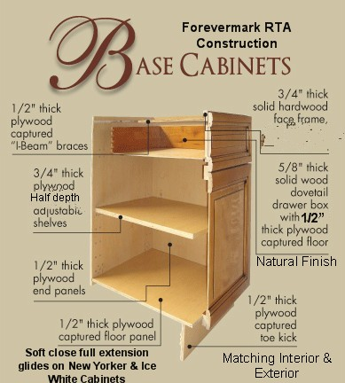 Forevermark RTA Cabinets With Dovetail Drawers ...