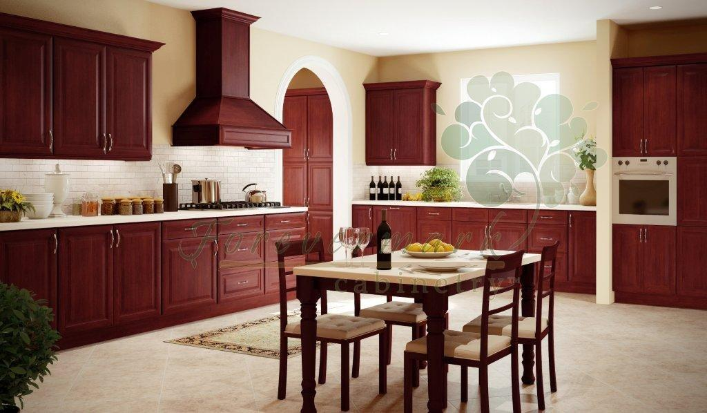 Kava Cherry RTA Kichen Cabinets with dovetail drawers,