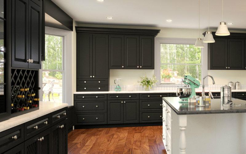 Gramercy Midnight Rta Kitchen Cabinets