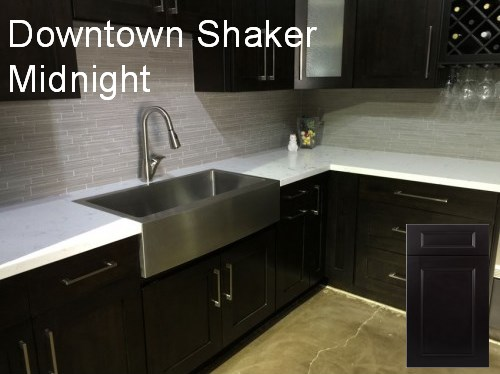 downtown shaker midnight cabinets