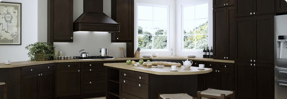 Pepper Shaker Espresso RTA Kitchen Cabinets With Dovetail Drawers, Full  Extension Undermount Soft Close Drawer ...