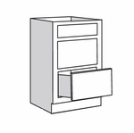Pepper Shaker Drawer Base Cabinet VDB122134