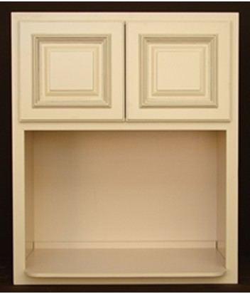 "Paterson White 36.5"" Two-Door Cabinet in Storage Cabinets"