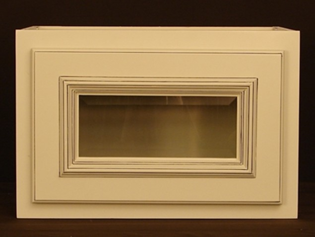RTA Kitchen Wall Cabinet With Glass Doors
