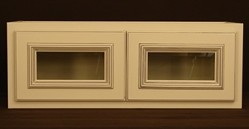 RTA kitchen wall cabinet with glass
