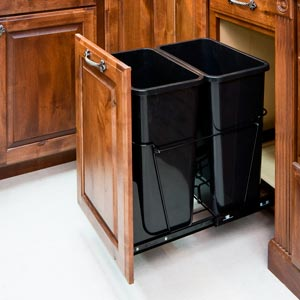 Double or Single waste pull outs and Cabinet Accessories