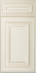 Charleston Antique White Wall Cabinet for Glass Door W2442GD 1