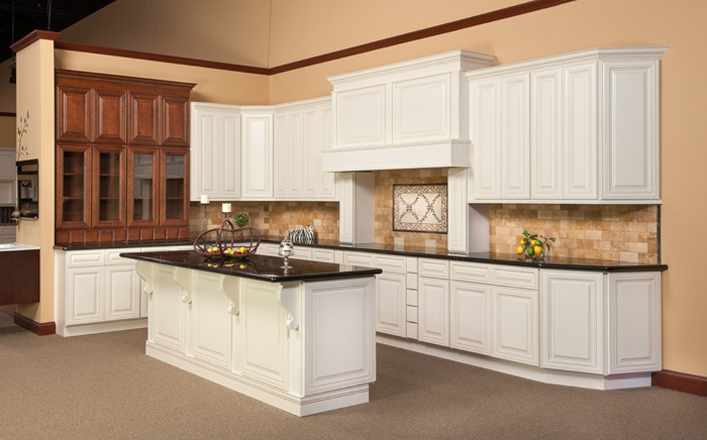 Charleston Antique White RTA Kitchen Cabinets