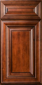 Charleston Saddle Brown Wall Diagonal Corner Cabinet for Glass Door WDC2742GD 1