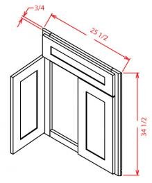 Diagonal corner sink front