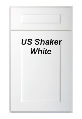 Shaker White RTA kitchen cabinets