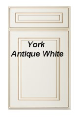 York antique white RTA cabinets