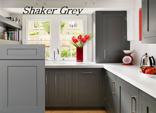 ... Grey Shaker Kitchen Cabinets