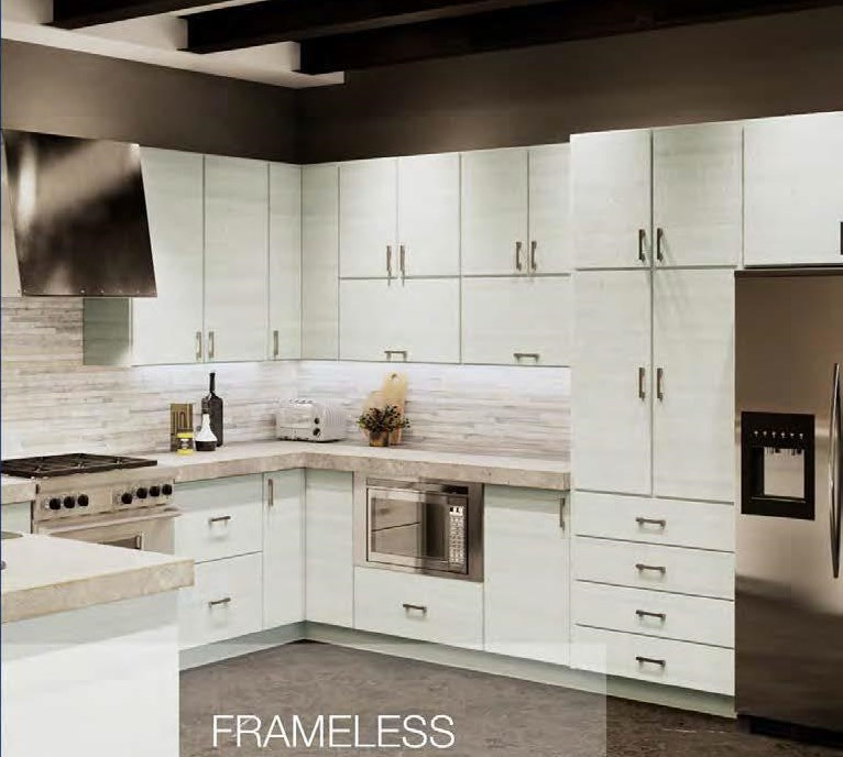 European Kitchen Cabinet Doors: Torino White Pine European Cabinet
