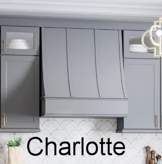 Sloped decorative range hood