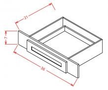 Shaker Espresso Vanity Knee Drawer VKD36