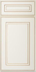 York Antique White Wall Cabinet for Glass Door W3036GD 1
