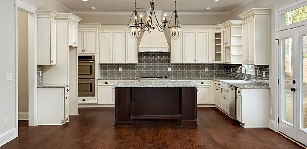 York Antique White Shaker Kitchen Cabinets ...