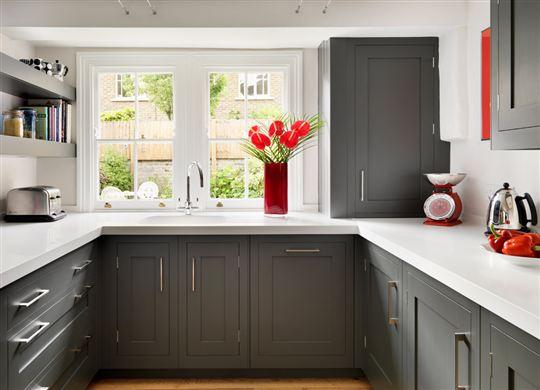 Gray Shaker RTA Kitchen