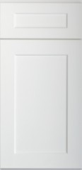 U.S. Shaker White Wall Diagonal Corner Cabinet for Glass Door WDC2436GD 1