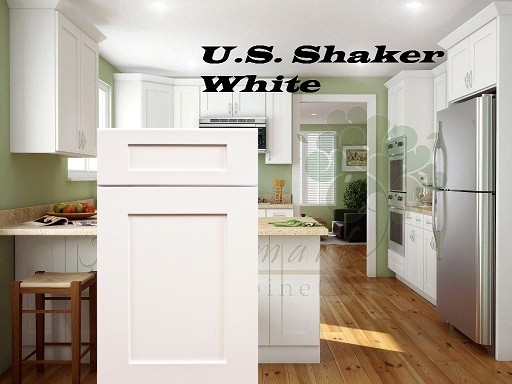 ... Cabinets US Shaker White RTA Kitchen Or Fully Assembled Ktchen ...