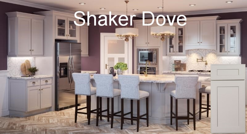 Shaker Dove RTA Kitchen