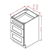 Shaker Grey Drawer Base 3DB12