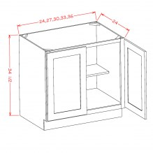 Full height door base cabinet