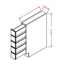 RTA cabinet base spice drawer
