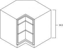 Corner drawer base 36 inch wide
