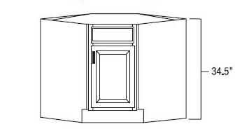 RTA cabinet diagonal corner sink base
