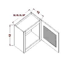 Wall cabinet stacker with glass, rta cabinets