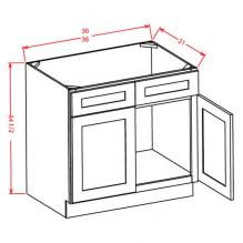 RTA vanity unit with drawers left or right