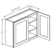 Shaker Dove Wall Cabinet for Glass Door W3042GD